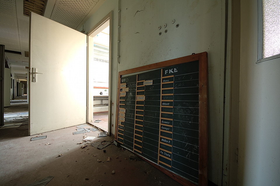 Corridor and Blackboard