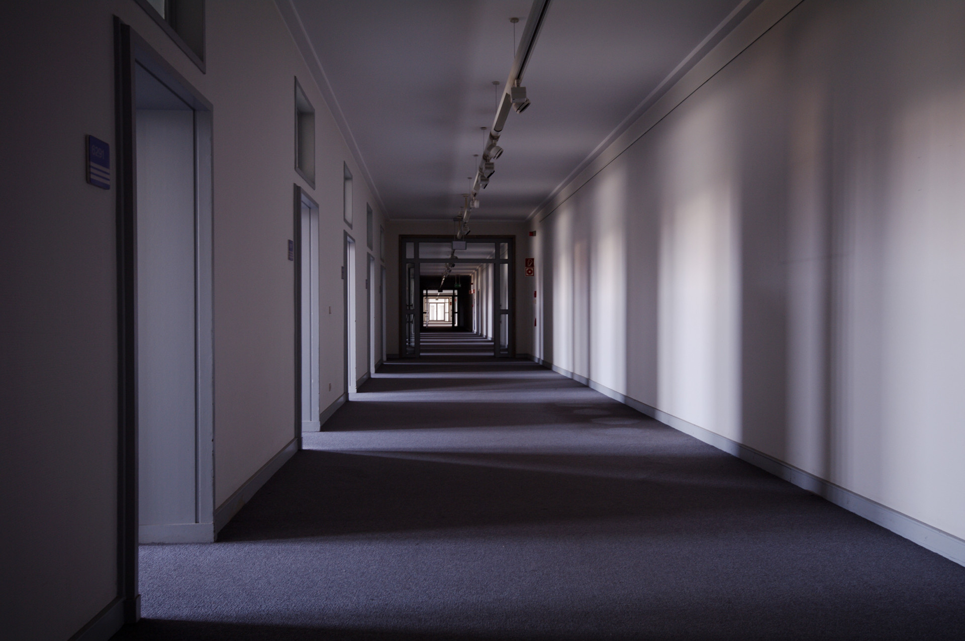 Empty Corridor Tempelhof Gallery District Noir