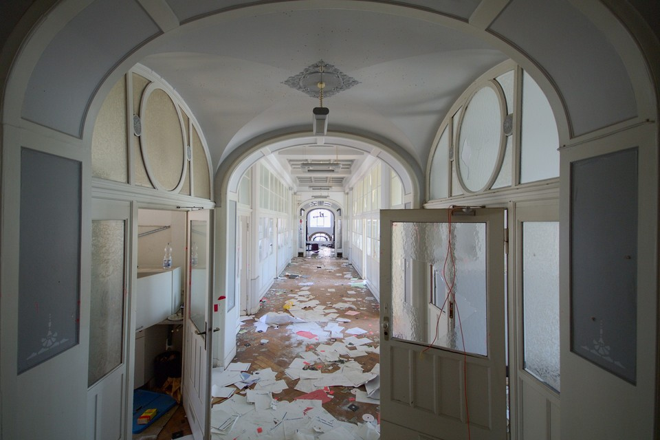 Corridor in the Admin Building