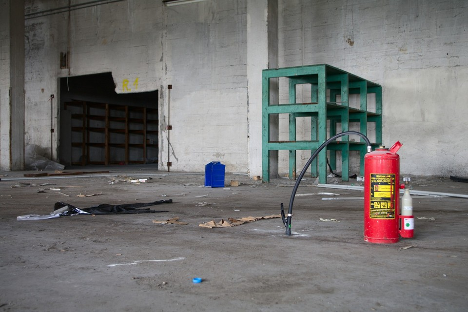 Extinguisher and Shelves