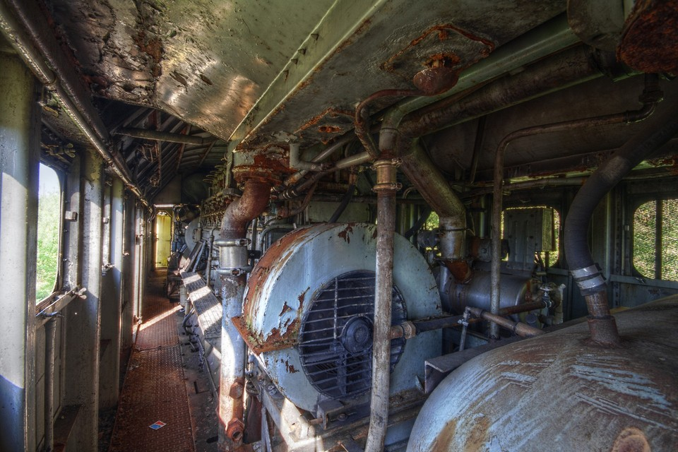 Locomotive's Engine Room